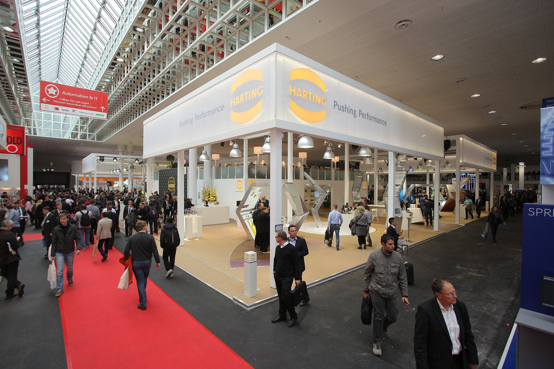 Outlet Hannover faithful exhibitors right from the start harting celebrates big