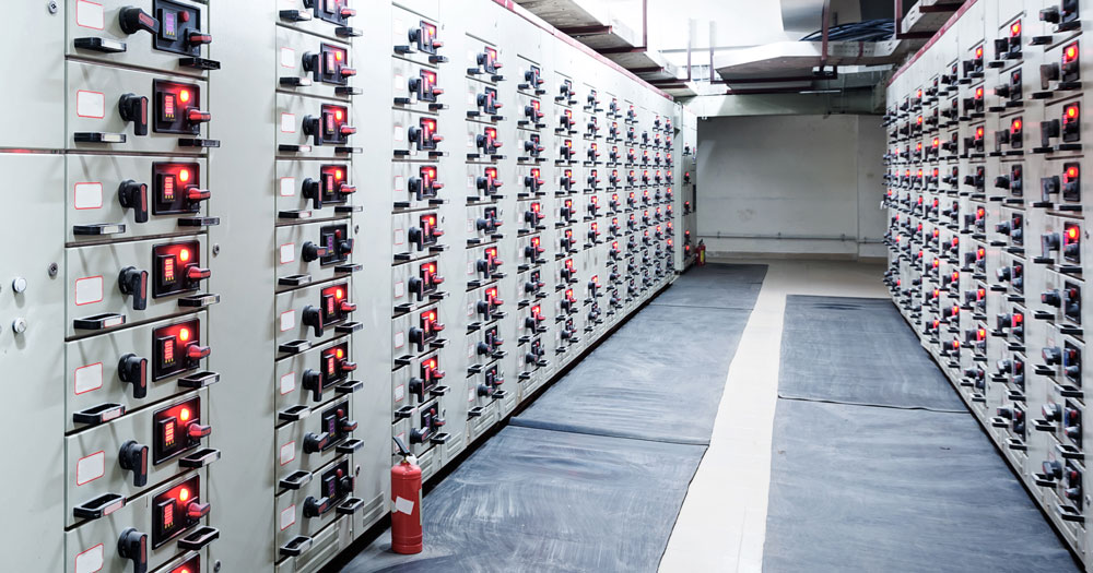 Electric energy sales substation in a power plant