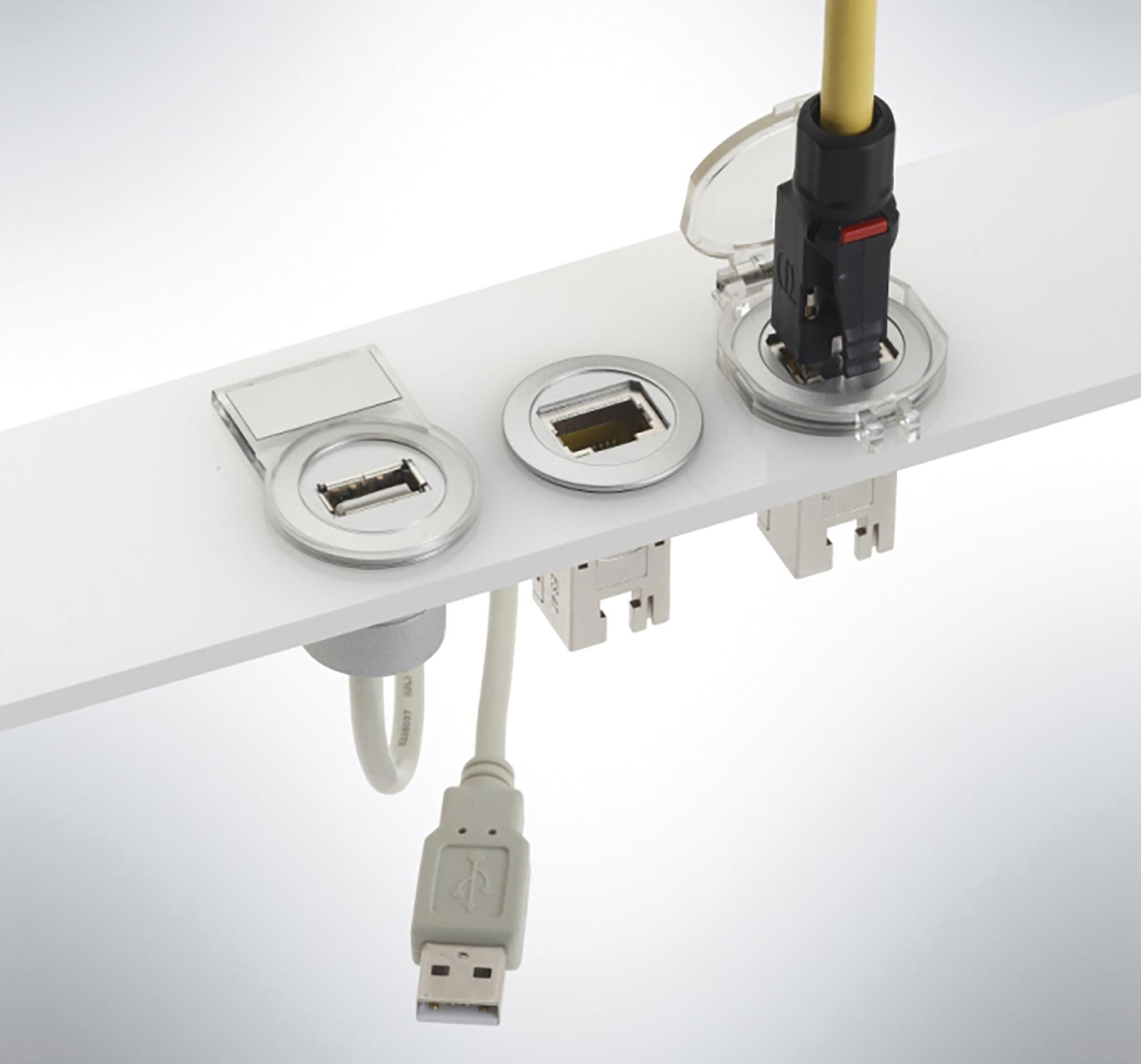 Interfaz de servicio har-port para Ethernet y USB