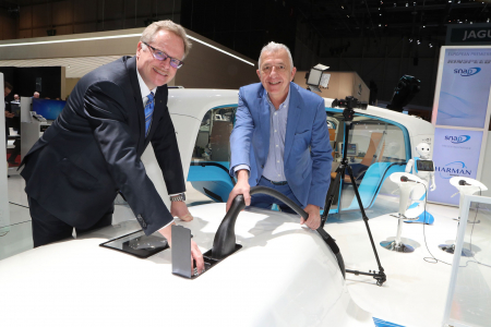 Frank M. Rinderknecht and Detlef Sieverdingbeck at the Geneva International Motor Show